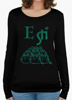 T-shirt E STI..GLITTER VERDE