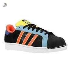 Adidas - Superstar - B42623 - Color: Black-Blue-Orange - Size: 6.5 - Adidas sneakers for women (*Amazon Partner-Link)