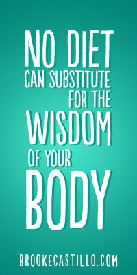 Your body knows. This has never been more true than today.
