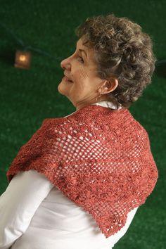Dusty Rose Shawlette in Kraemer Yarns Sterling Silk & Silver, I Like Crochet June 2016