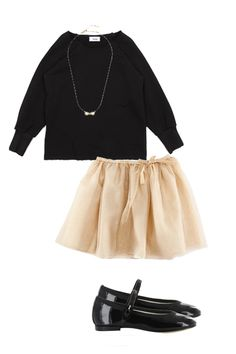 Simple but so pretty black and nude little outfit.