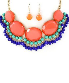 Coral Soiree Necklace