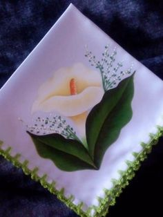 Eye Painting, One Stroke Painting, Fabric Painting, Watercolor Flowers Tutorial, Flower Tutorial, Watercolor Art, Sewing Art, Henna Patterns, Calla Lily