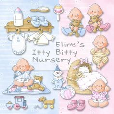 Eline's Digital ClipArt Set – Itty Bitty Nursery