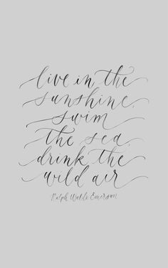 Ralph Waldo Emerson, calligraphy quote, handlettering