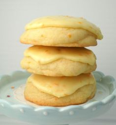 Orange Zested Cookies w/ Sweet Orange Glaze.