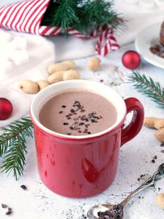 Cold Drinks, Yummy Drinks, Coffee Cafe, Cocoa, Xmas, Christmas, Food And Drink, Sweets, Advent