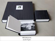 Queensberry Wedding Album | Black Pearl Silk cover | Photography by Weddings by Nicola & Glen | www.queensberry.com/queensberrybride-wedding-albums