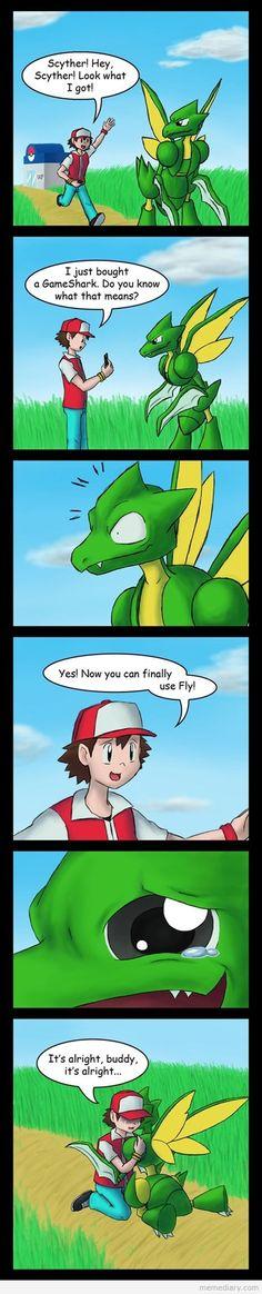 Scyther's dream comes true #scyther #cartoon #meme #funnymeme