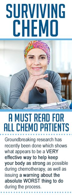 Groundbreaking research has recently been done which shows what appears to be a VERY effective way to keep your body as strong as possible during chemo.