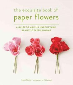 Provides step-by-step instructions for creating twenty-five paper flowers from tissue and crepe paper, and explains how to combine the flowers to arrange garlands, wreaths, table decorations, and corsages.
