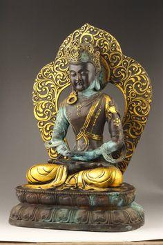 Bronze Nepal Buddha statue