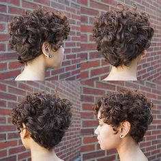 60 Most Delightful Short Wavy Hairstyles Brown Curly Pixie Hairstyle Short Curly Pixie, Curly Pixie Hairstyles, Haircuts For Curly Hair, Curly Hair Cuts, Short Hair Cuts, Curly Hair Styles, Latest Hairstyles, Long Curly, Pixie For Curly Hair
