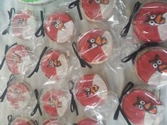 Angry Bird inspired cookies by ForGoodnessCakeNJ on Etsy, $28.00