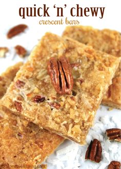 Quick 'n' Chewy Crescent Bars with Coconut and Pecans recipe (won the Pillsbury Bake-Off in 1972)