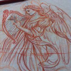 #sketch #angel #draw