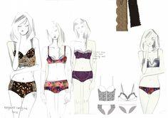 Fashion Sketchbook - fashion illustrations; contour fashion portfolio // Georgina Wild