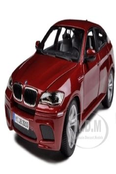 Brand new 1:18 scale diecast model car of 2011 2012 BMW X6M Dark Red die cast model car by Bburago. Brand new box. Rubber tires. Made of diecast with some plastic parts. Detailed interior, exterior, engine compartment. Dimensions approximately L-10, W-4, H-3.5 inches. 2011 2012 BMW X6M Dark Red 1/18 Diecast Car Model by Bburago. Bmw Models, Rubber Tires, Diecast Model Cars, Dark Red, Engine, Scale, Exterior, Plastic, Games