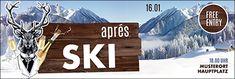 Alles für das Thema Apres Ski finden Sie unter www.onlineprintxxl.com. #apres #ski #party #banner #werbeplane #snow #hirsch Apres Ski Party, Party Banner, Free Entry, Skiing, Advertising, Design, Promotional Banners, Templates Free, Ski