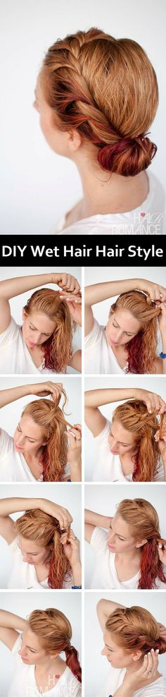 DIY Wet Hair Style | http://www.iluvdiy.com/diy-wet-hair-style/ #diy #HairStyle #Wet