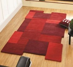 Abstract red rug