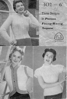 1950s Ladies mohair cardigan bolero and by Hobohooks on Etsy, £1.20