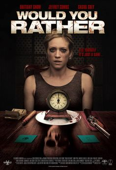 """Would You Rather is a 2012 American horror thriller feature film based on the party game """"Would You Rather"""", directed by David Guy Levy from a screenplay by Steffen Schlachtenhaufen The movie stars Brittany Snow, … Streaming Movies, Hd Movies, Movies Online, Movie Tv, Hd Streaming, Slasher Movies, 2012 Movie, Scary Movies To Watch, Great Movies"""
