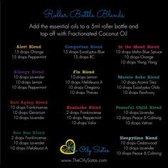Young Living Essential Oil roller ball recipes! So awesome for so many things! www.theoilysistas.com