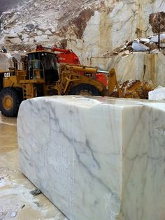 Calacatta Gold marble comes from Carrara, Italy and has been quarried since the Romans.