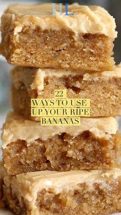Top 22 ways to use up ripe Bananas: Food recipes - Healthy lifestyleYou can find Banana recipes and more on our website.Top 22 ways to use up ripe Ba. Recipes For Old Bananas, Healthy Banana Recipes, Banana Dessert Recipes, Banana Bread Recipes, Overripe Banana Recipes, Recipe Using Ripe Bananas, Baking With Bananas, Healthy Desserts With Bananas, Leftover Banana Recipes