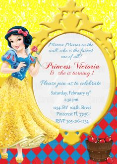 7 Best Snow White Invitations Images Snow White Invitations
