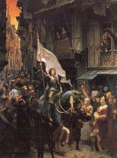 Juana de Arco entra en Orléans (1887), Jean-Jacques Scherrer.
