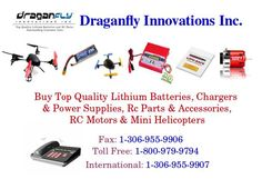 We offer best quality RC products at most competitive price. Batteries of different volts and series are available. We proudly offer our products for every need. Every day your product shipped to your door quickly. You can place your order online or call toll free. We provides worldwide shipping. We provide free shipping across Canada and lower-48 United states.