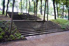 landscape architecture stairs trees - Google Search