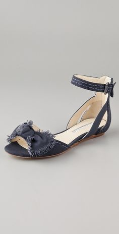 Vera Wang  Leni Canvas Bow Sandals  Style #:VERAW40032  $225.00