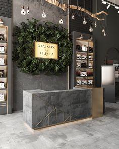 Florist Shop Interior, Salon Interior Design, Flower Shop Decor, Flower Shop Design, Flower Shop Interiors, Flower Studio, Home Room Design, Store Design, Wall Design