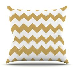 Original Candy Cane Gold Chevron Pattern Throw Pillow by Kess Inhouse ($29) ❤ liked on Polyvore featuring home, home decor, throw pillows, decorative pillows, home & living, home décor, silver, chevron throw pillows, gold home decor and gold accent pillows