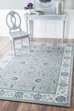 $5 Off when you share! Bosphorus BD10 Silver Rug #RugsUSA