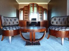 Art-Deco-Office-Featuring-Custom-Designed-Chairs-and-Bookcase