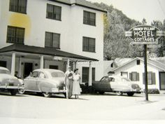 1950 French Village Hotel Cottages Gatlinburg TN AAA Photo Snapshot   eBay
