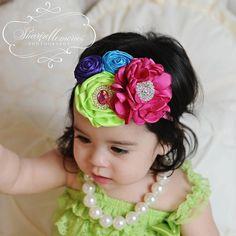 Diademas de bebé bebé rosa caliente y arcos lactante diademas bebé niña diademas niña diadema bebé/niño pequeño las vendas/diadema