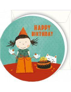 """Mini-carte double Julia Segui """"Happy Birthday"""""""