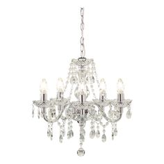 Wilko Marie Therese Ceiling Light Fitting Clear 5 Arm £39.00