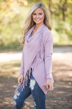 That's How You'll Know Fringe Cardigan - The Pink Lily