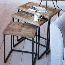 Spitalfields Nest of 3 Tables | Dunelm