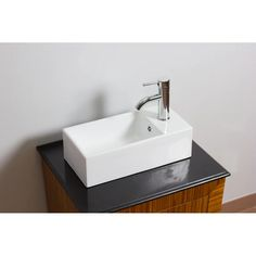 American Imaginations Ceramic Vessel Bathroom Sink with Overflow | Wayfair Above Counter Bathroom Sink, Bathroom Sink Drain, Thing 1, Canada, Faucet, The Help, Rectangle Shape, Installation Instructions, American