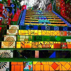 Escadaria Selarón Lapa, Rio de Janeiro, Brasil