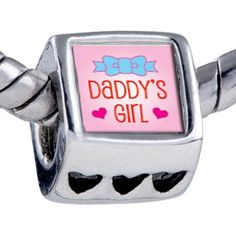 Pugster Bead Pink Daddy's Girl Beads Fits Pandora Bracelet Pugster. $11.24. Bead Size (mm): 7.25mm*8.02mm*8.94mm. Note: Snake chain is not included. Weight (gram): 2.75. Metal: base metal
