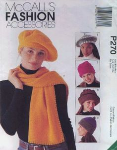McCall's P270 (or 9551) Fleece Sewn Hat Patterns  Sewn Head Hugger    This or a similar pattern may be used to make fleece or flannel chemo caps.  Note that McCalls calls this same pattern either P270 or 9551.