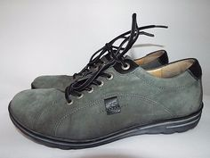Hartjes XS Womens Suede shoes size 7.5, EUC, Gray, Casual Lace, UK size 5 #Hartjes #Oxfords #Casual